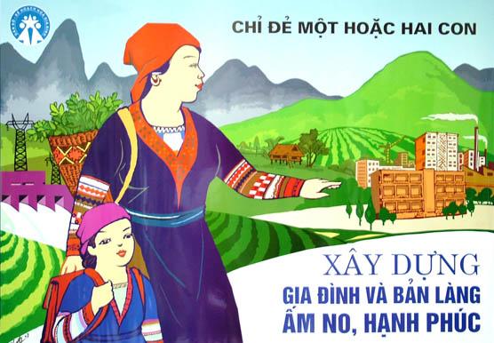 khẩu hiệu kế hoạch hóa gia đình ở miền núi