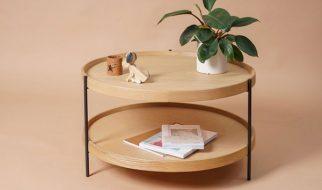 Humla trong danh sách bàn trà gỗ giá rẻ Hà Nội là mẫu bàn có đường nét tinh gọn, thanh lịch rất bắt mắt