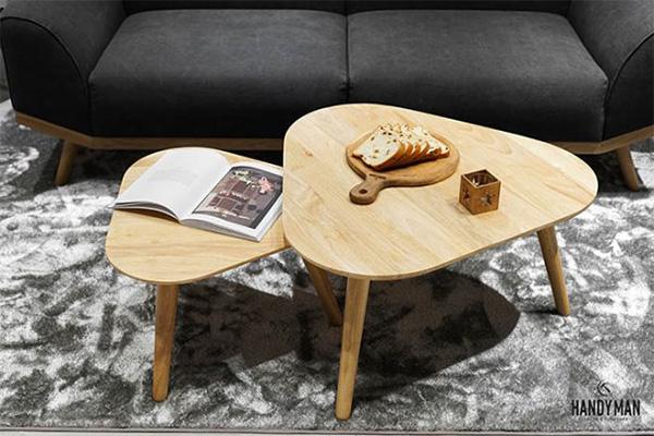 Đây là mẫu bàn trà được thiết kế theo cảm hứng của những chiếc lá phong ôn đới