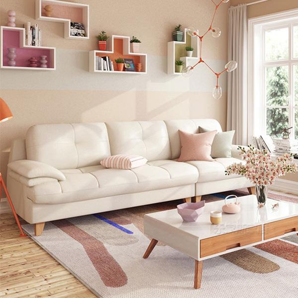 Ghế sofa làm giường Leather được thiết kế ngọt ngào