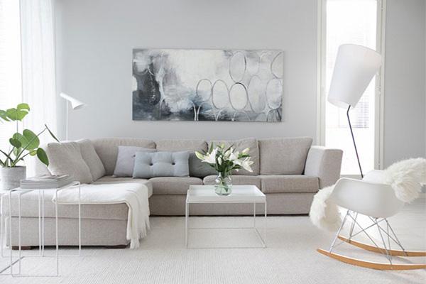Ghế sofa giường Scandinavia trong danh sách mua ghế sofa đơn giá rẻ với thiết kế đơn giản