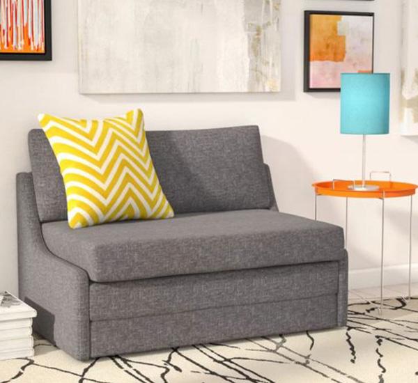 Làm từ chất liệu nệm mousse D và nằm trong danh sách mua ghế sofa đơn giá rẻ